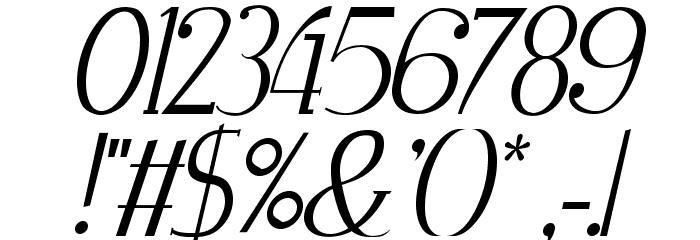 Zorus Serif Italic Шрифта ДРУГИЕ символов