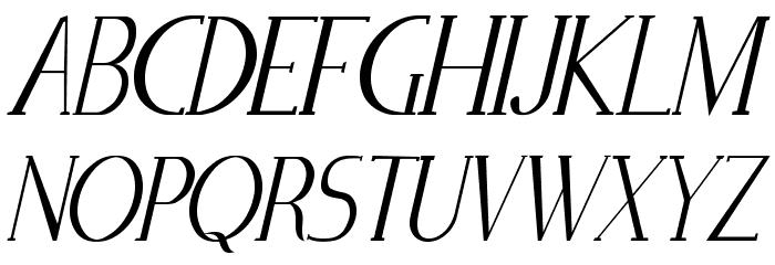 Zorus Serif Italic Schriftart Groß