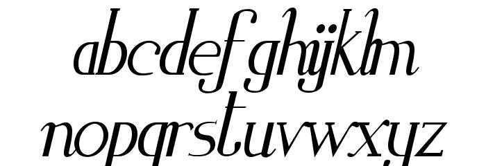 Zorus Serif Italic Schriftart Kleinbuchstaben
