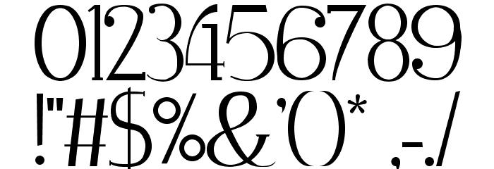 Zorus Serif Caratteri ALTRI CARATTERI