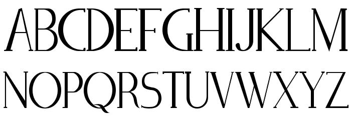 Zorus Serif Caratteri MAIUSCOLE