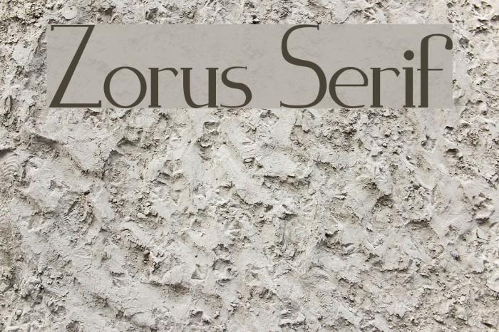 Zorus Serif Caratteri examples