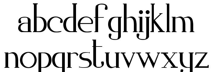 Zorus Serif Caratteri MINUSCOLO