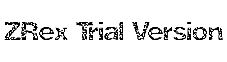 ZRex Trial Version  Free Fonts Download