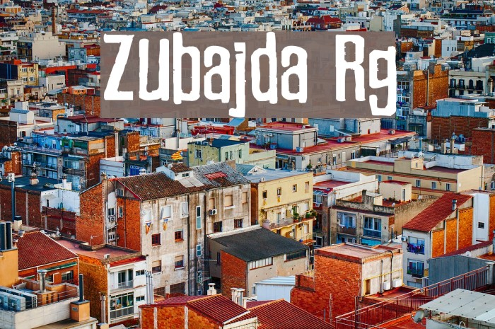 Zubajda Rg Font examples