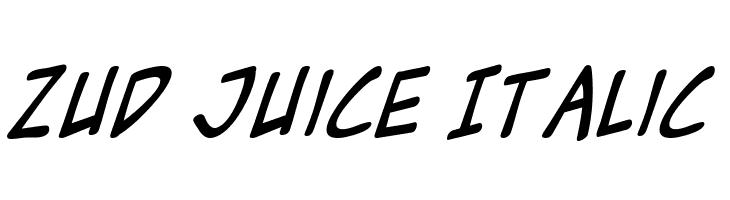 Zud Juice Italic Polices