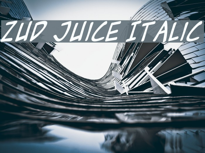 Zud Juice Italic フォント examples
