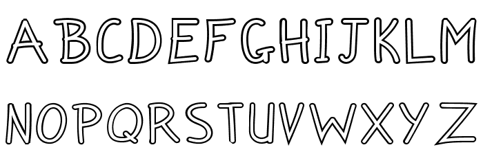 Zuey Handwriting Outlines Fonte MAIÚSCULAS