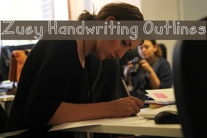 Zuey Handwriting Outlines Fonte examples