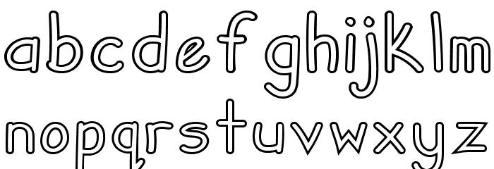 Zuey Handwriting Outlines Fonte MINÚSCULAS