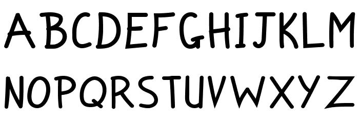 Zuey Handwriting Fonte MAIÚSCULAS