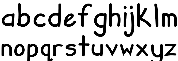 Zuey Handwriting Fonte MINÚSCULAS