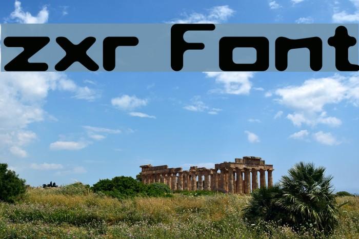 zxr फ़ॉन्ट examples